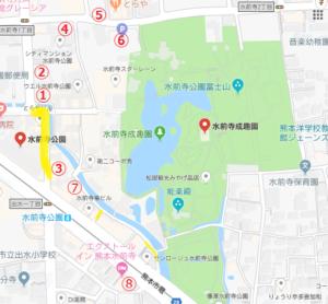 周辺駐車場地図
